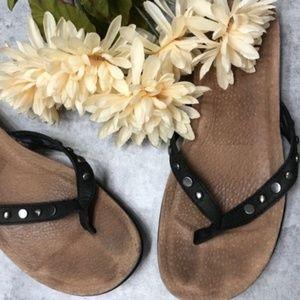UGG Black Flip Flop Sandals